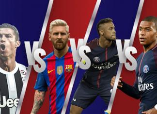 Ronaldo Vs Messi Vs Neymar Vs Mbappe: Football wallpapers