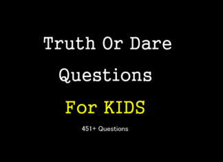 Truth or dare questions for kids