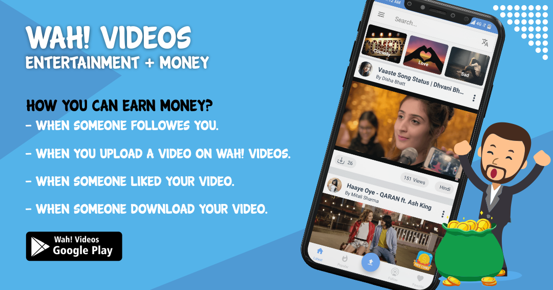 Earn Unlimited Money With Wah Videos
